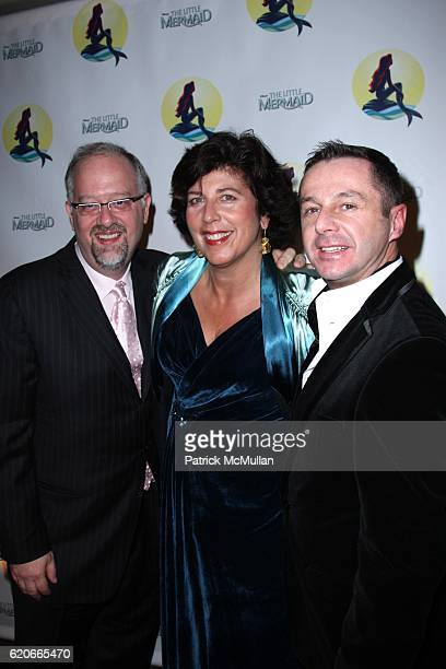 Doug Wright Francesca Zambello and Stephen Mear attend Opening Night for Broadway's THE LITTLE MERMAID at LuntFontaine Theatre on January 10 2008 in...