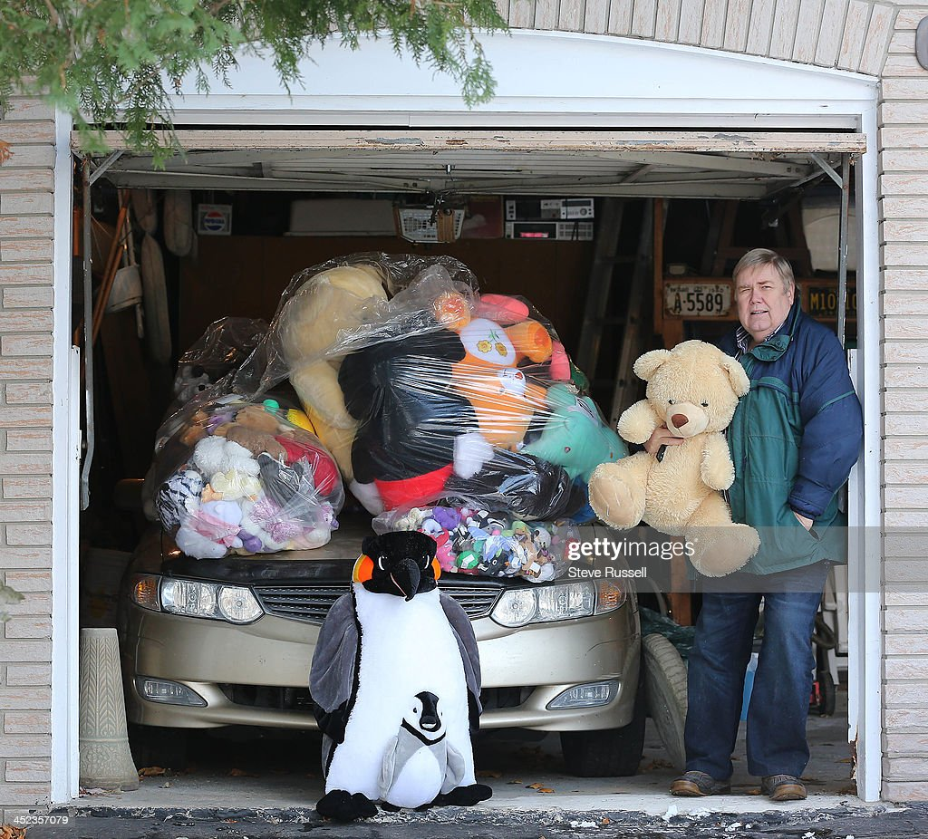 MARKHAM, ON- NOVEMBER 27 - Doug Wright is Markham man who has collected and washed 892 teddy bears, his goal was 500. The bears fill half his garage. He is hoping to donate them to Christmas toy drives. Alas, because of sanitary concerns nobody will take them. in Markham. November 27, 2013.