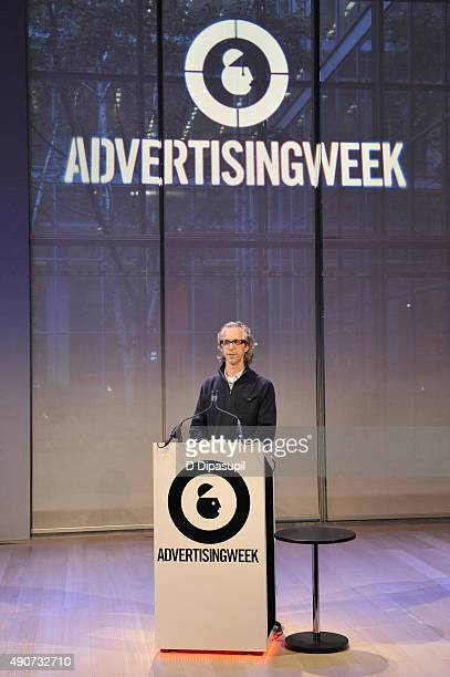 Doug Zanger speaks onstage at the Redefining Talent panel during Advertising Week 2015 AWXII at the Times Center Stage on September 30 2015 in New...