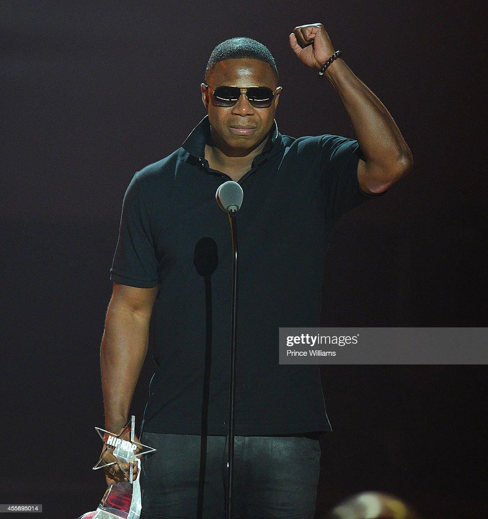 Douge E Fresh performs at the BET Hip Hop awards at Boisfeuillet Jones Atlanta Civic Center on September 20 2014 in Atlanta Georgia