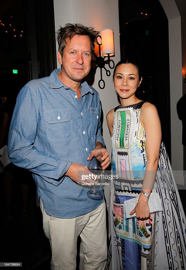 Dough Aitken and China Chow attend W's Stefano Tonchi and Catherine Keener celebrate W's 40th Anniversary and the Book Release of 'W: The First 40 Years' at Spago on October 24, 2012 in Beverly Hills, California.