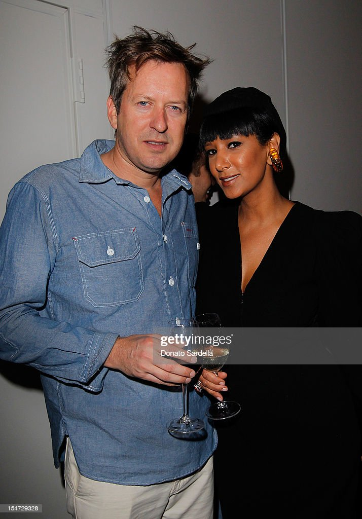 Dough Aitken and Gelila Assefa Puck attend W's Stefano Tonchi and Catherine Keener celebrate W's 40th Anniversary and the Book Release of 'W: The First 40 Years' at Spago on October 24, 2012 in Beverly Hills, California.