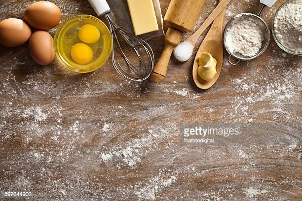 Dough preparation and baking frame