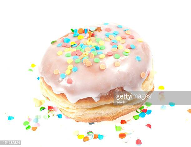 doughnut  with colored topping krapfen for Birthday - Kindergeburtstag
