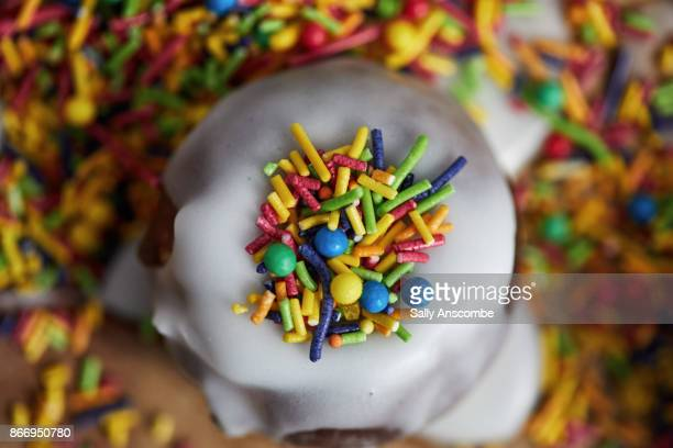 Doughnut with sprinkles