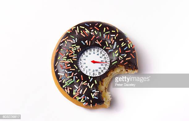 Doughnut with weighing scales