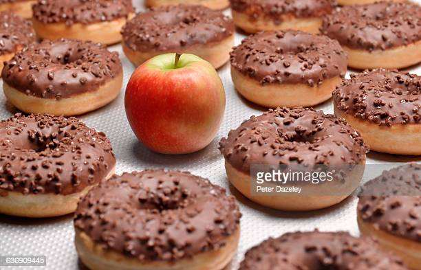 doughnuts chocolate, with apple