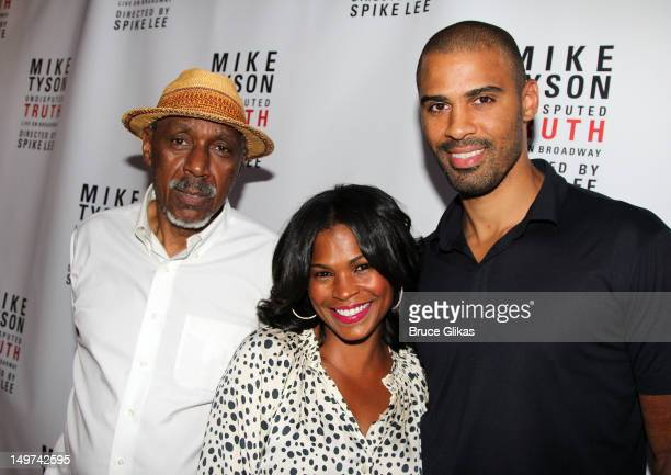 Doughtry 'Doc' Long Nia Long and Ime Udoka attend the Broadway opening night for 'Mike Tyson Undisputed Truth' at the Longacre Theatre on August 2...