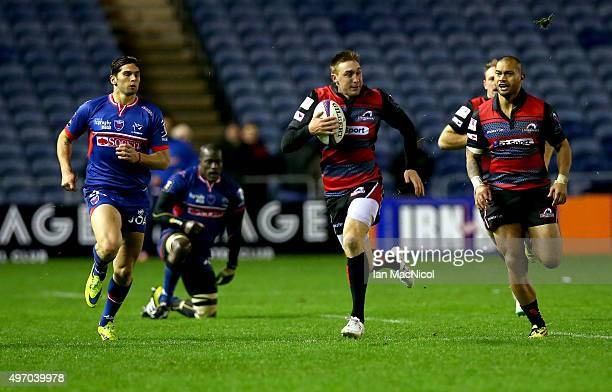 Dougie Fife of Edinburgh Rugby runs with the ball during the European Rugby Challenge Cup match between Edinburgh Rugby and Grenoble at Murrayfield...