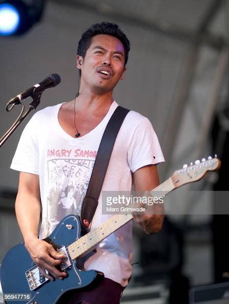 Dougie Mandagi from the band Temper Trap performs on stage on the first day of the 2day Sydney leg of the Big Day Out music festival at Sydney...