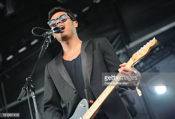 Dougie Mandagi of The Temper Trap performs at Sasquatch Festival at the Gorge Amphitheater on May 31 2010 in George Washington