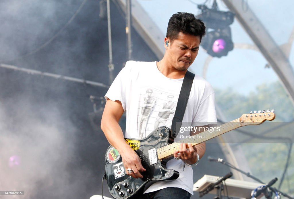 Dougie Mandagi of The Temper Trap performs during the at Rockin' Park Festival at Goffertpark on June 30 2012 in Nijmegen Netherlands