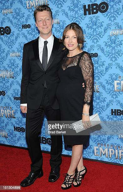 Dougie Payne and Actress Kelly Macdonald attend HBO's 'Boardwalk Empire' Season Three New York Premiere at Ziegfeld Theater on September 5 2012 in...