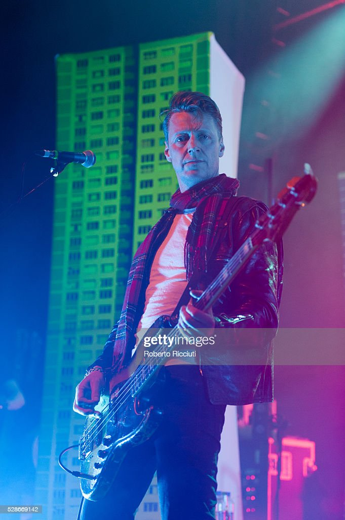 Dougie Payne of Scottish rock band Travis performs live on stage at O2 ABC Glasgow on May 6, 2016 in Glasgow, Scotland.