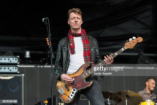 Dougie Payne of Travis performs at V Festival at Hylands Park on August 21 2016 in Chelmsford England