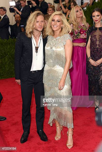 Dougie Poynter and Ellie Goulding attend the 'China Through The Looking Glass' Costume Institute Benefit Gala at Metropolitan Museum of Art on May 4...