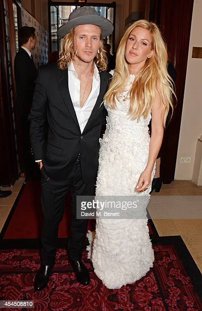 Dougie Poynter and Ellie Goulding attend the GQ Men Of The Year awards in association with Hugo Boss at The Royal Opera House on September 2 2014 in...