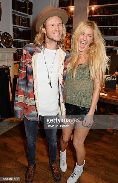 Dougie Poynter and Ellie Goulding attend The London 2014 Stella McCartney Green Carpet Collection during London Fashion Week at The Royal British...
