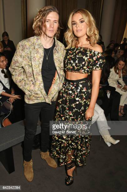 Dougie Poynter and Tallia Storm attend the DAKS show at the Langham Hotel during the London Fashion Week February 2017 collections on February 17...