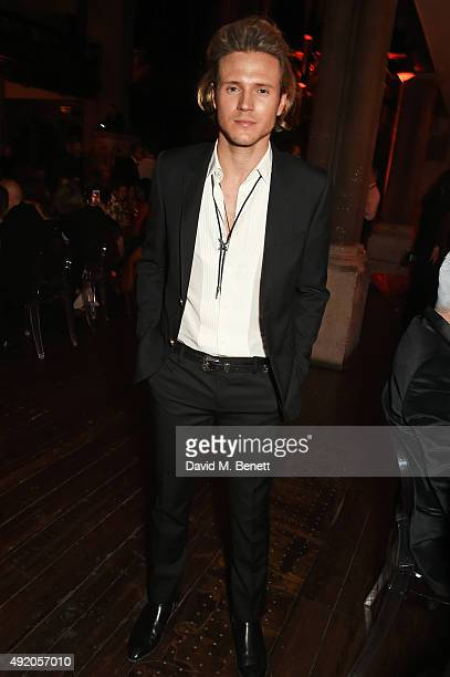 Dougie Poynter attends Eva Cavalli's birthday dinner party at One Mayfair on October 9 2015 in London England