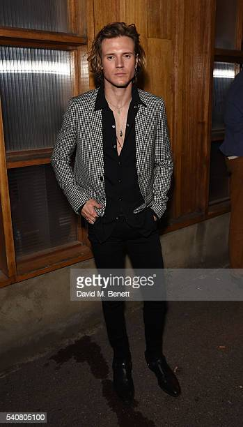 Dougie Poynter attends the DKNY x Dazed party celebrating the launch of Dazed Kids New York at Shoreditch Studios on June 16 2016 in London England