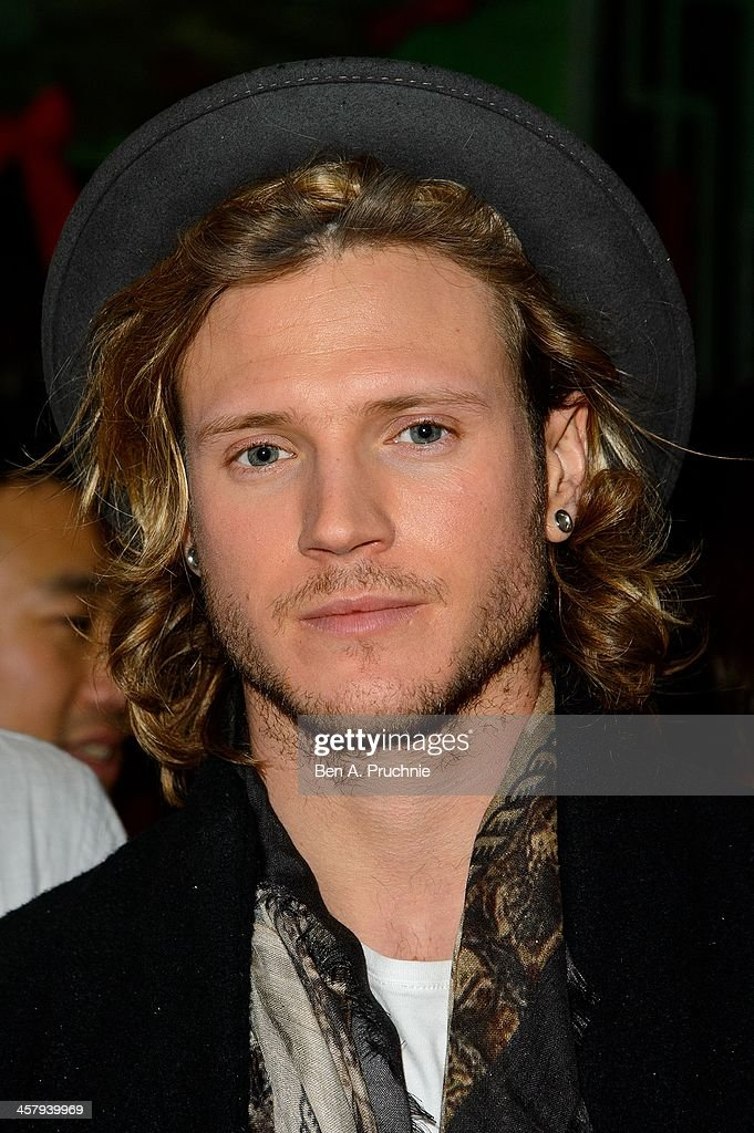 <a gi-track='captionPersonalityLinkClicked' href=/galleries/search?phrase=Dougie+Poynter&family=editorial&specificpeople=214057 ng-click='$event.stopPropagation()'>Dougie Poynter</a> attends the press night for 'Wicked' at Apollo Victoria Theatre on December 19, 2013 in London, England.