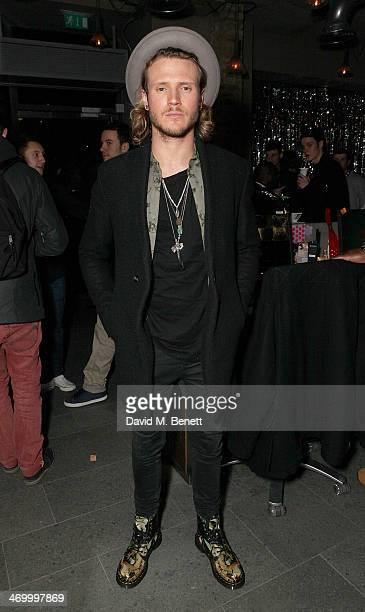 Dougie Poynter attends the Storm LFW party hosted at the Red Bull Studios on February 17 2014 in London England