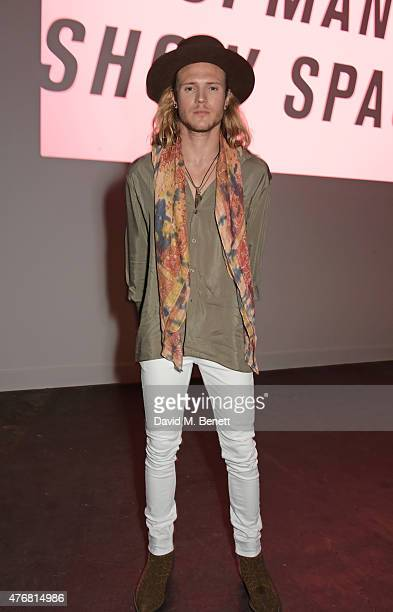 Dougie Poynter attends the Topman Design show during London Collections Men SS16 at The Old Sorting Office on June 12 2015 in London England