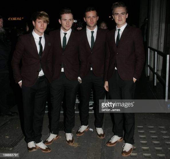 Dougie Poynter Danny Jones Harry Judd and Tom Fletcher of McFly sighting on November 18 2012 in London England