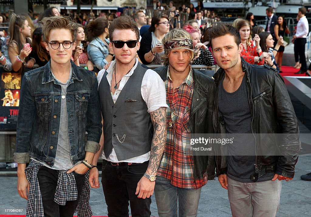 <a gi-track='captionPersonalityLinkClicked' href=/galleries/search?phrase=Dougie+Poynter&family=editorial&specificpeople=214057 ng-click='$event.stopPropagation()'>Dougie Poynter</a>, <a gi-track='captionPersonalityLinkClicked' href=/galleries/search?phrase=Danny+Jones+-+Musician&family=editorial&specificpeople=206498 ng-click='$event.stopPropagation()'>Danny Jones</a>, <a gi-track='captionPersonalityLinkClicked' href=/galleries/search?phrase=Tom+Fletcher&family=editorial&specificpeople=213300 ng-click='$event.stopPropagation()'>Tom Fletcher</a> and <a gi-track='captionPersonalityLinkClicked' href=/galleries/search?phrase=Harry+Judd&family=editorial&specificpeople=207089 ng-click='$event.stopPropagation()'>Harry Judd</a> of McFly attend the World Premiere of 'One Direction: This Is Us' at Empire Leicester Square on August 20, 2013 in London, England.