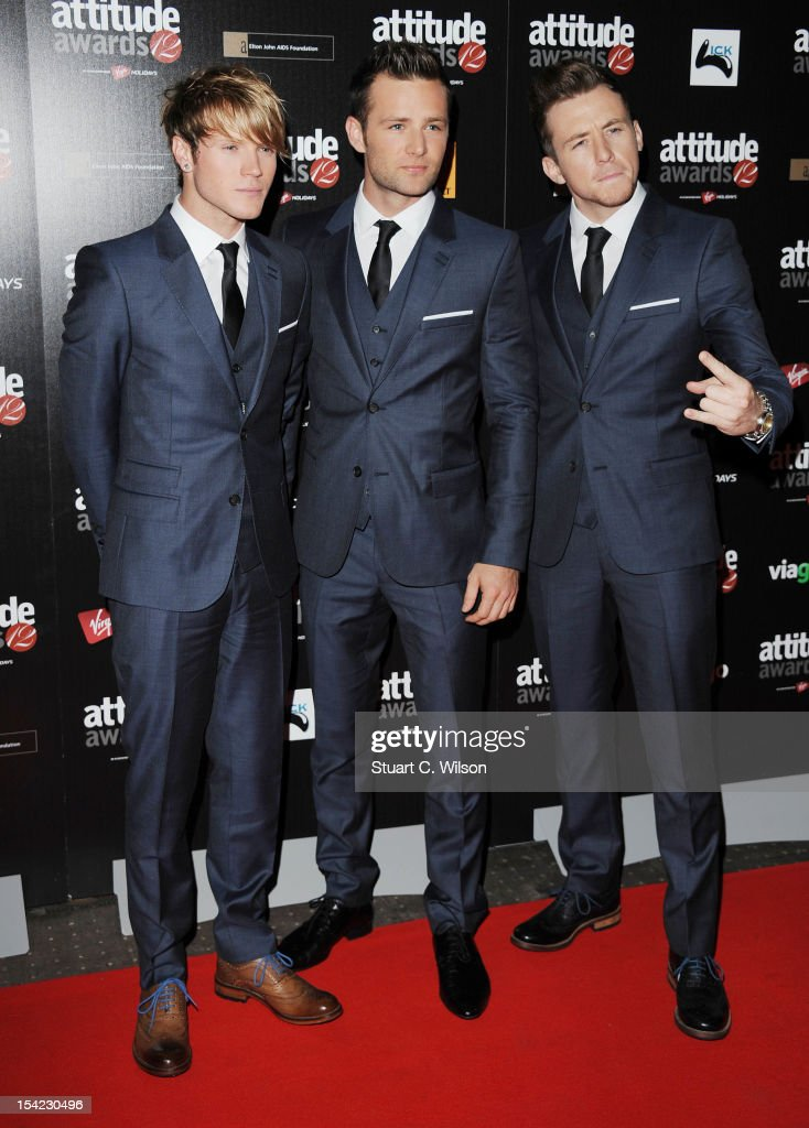 <a gi-track='captionPersonalityLinkClicked' href=/galleries/search?phrase=Dougie+Poynter&family=editorial&specificpeople=214057 ng-click='$event.stopPropagation()'>Dougie Poynter</a>, <a gi-track='captionPersonalityLinkClicked' href=/galleries/search?phrase=Harry+Judd&family=editorial&specificpeople=207089 ng-click='$event.stopPropagation()'>Harry Judd</a> and <a gi-track='captionPersonalityLinkClicked' href=/galleries/search?phrase=Danny+Jones+-+Musician&family=editorial&specificpeople=206498 ng-click='$event.stopPropagation()'>Danny Jones</a> of McFly attend the Attitude Magazine Awards at One Mayfair on October 16, 2012 in London, England.