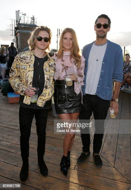 Dougie Poynter Millie Mackintosh and Hugo Taylor attend a screening of Little Miss Sunshine with American Airlines at The Bussey Building on August...