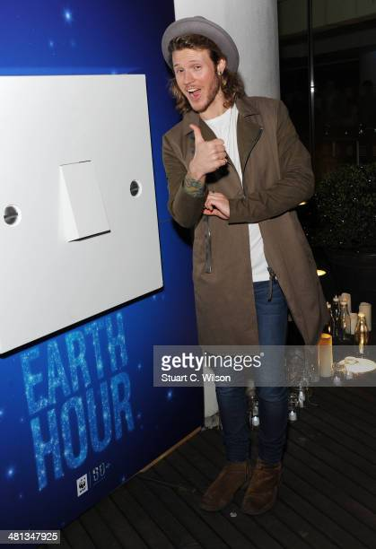 Dougie Poynter poses prior to a candlelight performance by Sophie Ellis Bextor for the WWF Earth Hour at Southbank Centre on March 29 2014 in London...