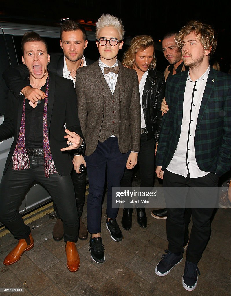 Dougie Poynter Tom Fletcher Danny Jones Matt Willis and James Bourne and Harry Judd of McBusted attending the Cosmopolitan Ultimate Women Of The Year...