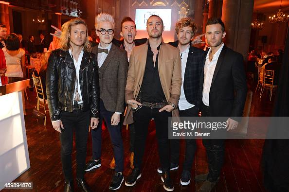Dougie Poynter Tom Fletcher Danny Jones Matt Willis James Bourne and Harry Judd of McBusted attend the Cosmopolitan Ultimate Women of the Year Awards...
