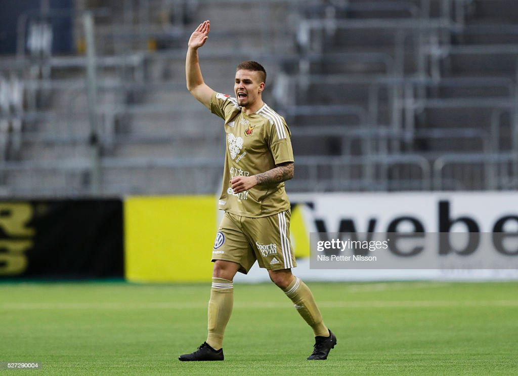 Douglas Bergqvist of Ostersunds FK during the Allsvenskan match between Djurgardens IF and Ostersunds FK at Tele2 Arena on May 2, 2016 in Stockholm, Sweden.