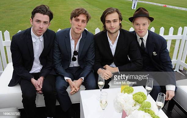 Douglas Booth and Freddie Fox attend at the Audi Royal Polo Challenge 2013 at Chester Racecourse on May 29 2013 in Chester England