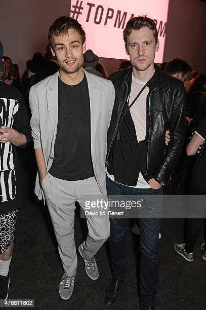 Douglas Booth and George Barnett attend the Topman Design show during London Collections Men SS16 at The Old Sorting Office on June 12 2015 in London...