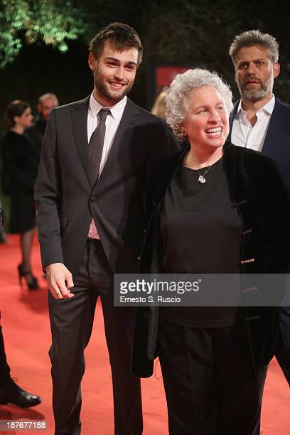 Douglas Booth and guest attend 'Romeo And Juliet' Premiere during The 8th Rome Film Festival at Auditorium Parco Della Musica on November 11 2013 in...
