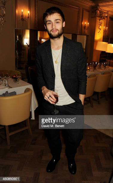 Douglas Booth attends an exclusive dinner hosted by Mulberry and MR PORTER to celebrate the launch of the new Mulberry capsule collection of...