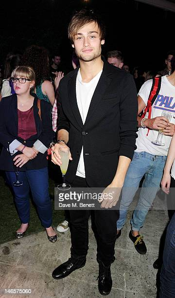 Douglas Booth attends as EA7 Emporio Armani Summer Garden Live presents Summer of Sport at Emporio Armani on June 19 2012 in London England