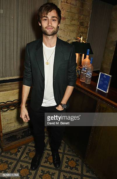 Douglas Booth attends Harvey Weinstein's preBAFTA dinner in partnership with Burberry and GREY GOOSE at Little House Mayfair on February 12 2016 in...