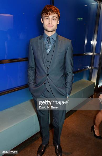 Douglas Booth attends the GQ London Collections Men AW15 closing dinner at Hakkasan Hanway Place on January 12 2015 in London England
