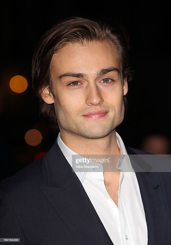 Douglas Booth attends the private view of 'David Bowie Is' at Victoria & Albert Museum on March 20, 2013 in London, England.