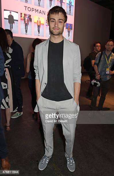 Douglas Booth attends the Topman Design show during London Collections Men SS16 at The Old Sorting Office on June 12 2015 in London England