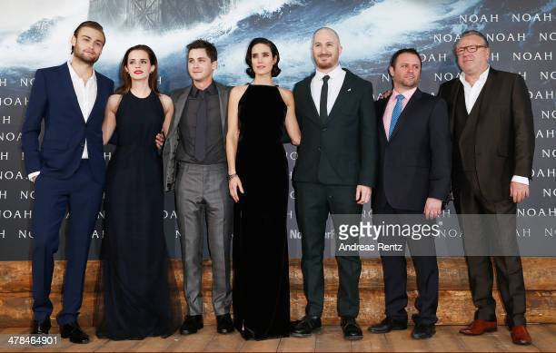 Douglas Booth Emma Watson Logan Lerman Jennifer Connelly director Darren Aronofsky producer Scott Franklin and Ray Winstone attend the premiere of...