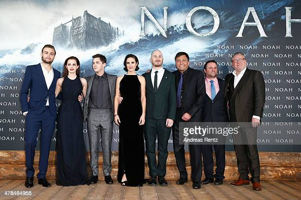 Douglas Booth Emma Watson Logan Lerman Jennifer Connelly director Darren Aronofsky Paramount Germany CEO Sven Sturm producer Scott Franklin and Ray...
