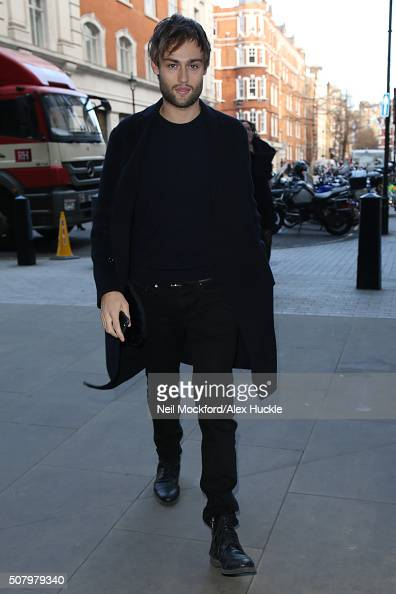 Douglas Booth seen at BBC Radio One on February 2 2016 in London England