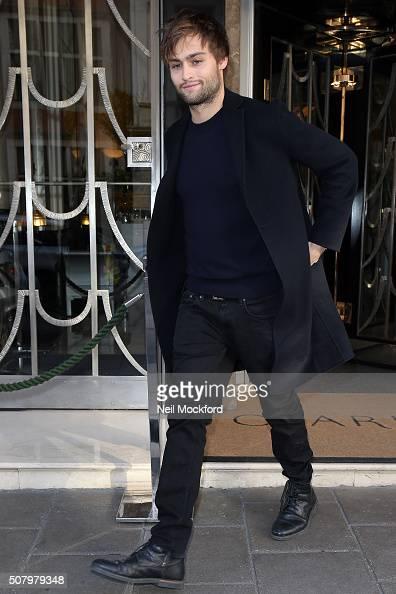 Douglas Booth seen leaving Claridges Hotel on February 2 2016 in London England