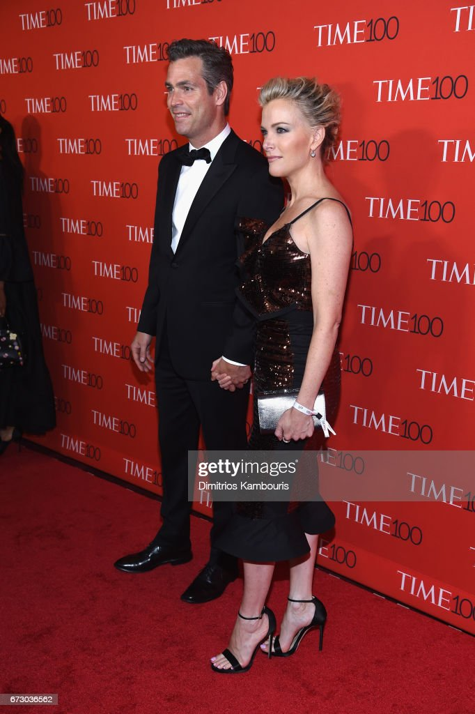 Douglas Brunt (L) and Megyn Kelly attend the 2017 Time 100 Gala at Jazz at Lincoln Center on April 25, 2017 in New York City.